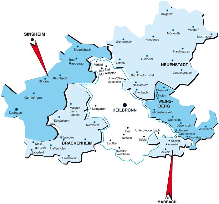 Diakonischen Bezirksstellen im Stadt- und Landkreis Heilbronn